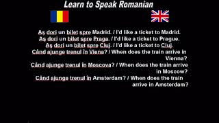 Learn to Speak Romanian 22. At the train station
