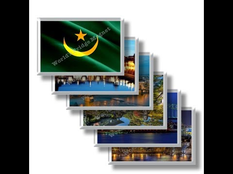 MR - Travels in MAURITANIA - rectangular magnets and souvenirs