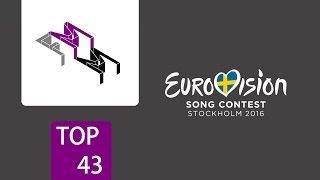 FM Maintream Chart -- Eurovision 2016 Top 43