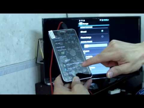 How to connect HDTV Adapter MHL with NEO N003 Premium 2GB/32GB Smart Phone Method and tutorial