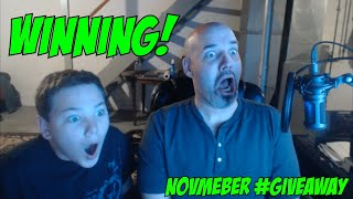 novMEber Game #giveaway WINNERS!