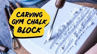 ASMR | Carving GYM CHALK block + very crunchy finish