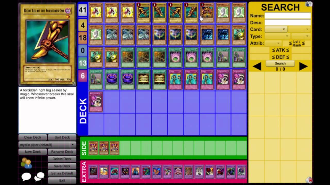 yugioh exodia instant win deck