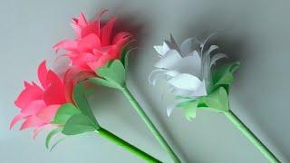 як зробити з паперу квіти своїми руками відео легко
