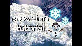 【100均アイテムを使って】練り消し⁉︎ふわふわスノースライムの作り方【slime tutorial】 thumbnail