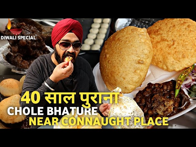Gole Market ke Paneer Wale Chole Bhature 🔥 | New Delhi Veg Street Food