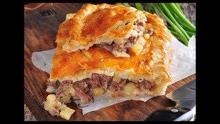 Кубете. Татарский пирог с мясом и картофелем.Быстрый и вкусный рецепт мясного пирога/Meat Pie recipe