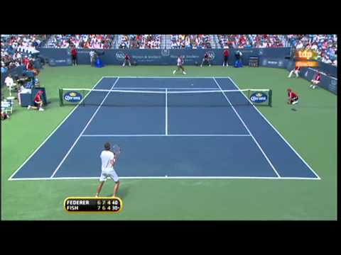Roger Federer vs. Mardy Fish 6-7(5), 7-6 (2), 6-4 final Cincinnati 2010