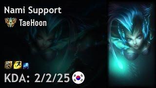 Nami Support vs Karma - TaeHoon - KR Challenger Patch 6.24