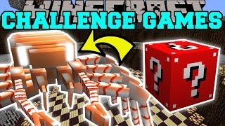 PopularMMOs Pat and Jen Minecraft: FORTNITE RAVEN CHALLENGE GAMES - Lucky Block Mod Modded Mini-Game