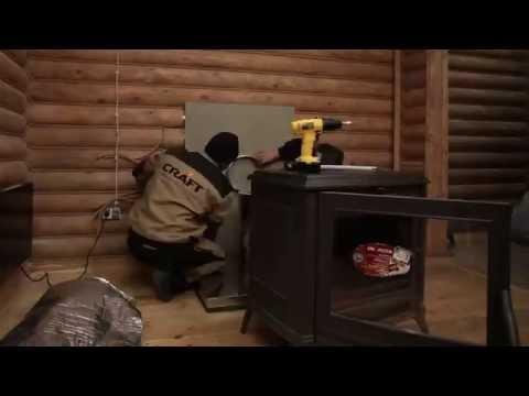 видео: Монтаж дымохода сэндвича из нержавеющей стали для печи камина
