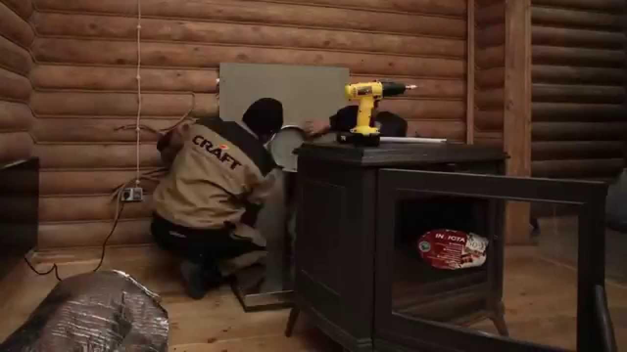 монтаж дымохода в помещении