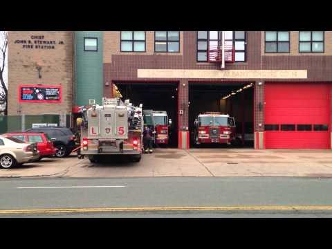 "Hartford Fire Department Ladder 5, ""NEW"" Ladder 4 & Engine 14 Responding BIG TIME!!!"