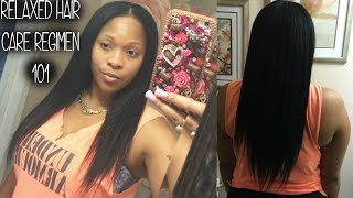 Relaxed Hair Care Regimen 101: Grow Long Healthy Hair Fast