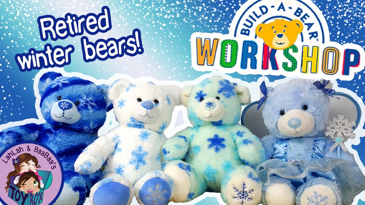 retired build a bears winter wonder teddy snow winter. Black Bedroom Furniture Sets. Home Design Ideas