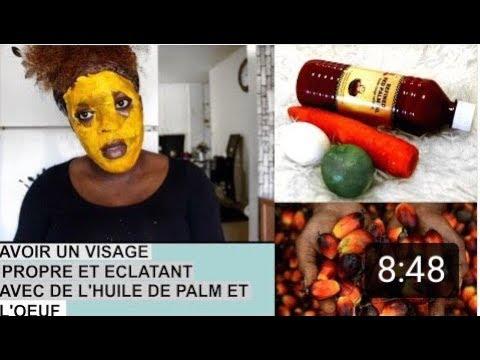 huile de palme eclaircit la peau