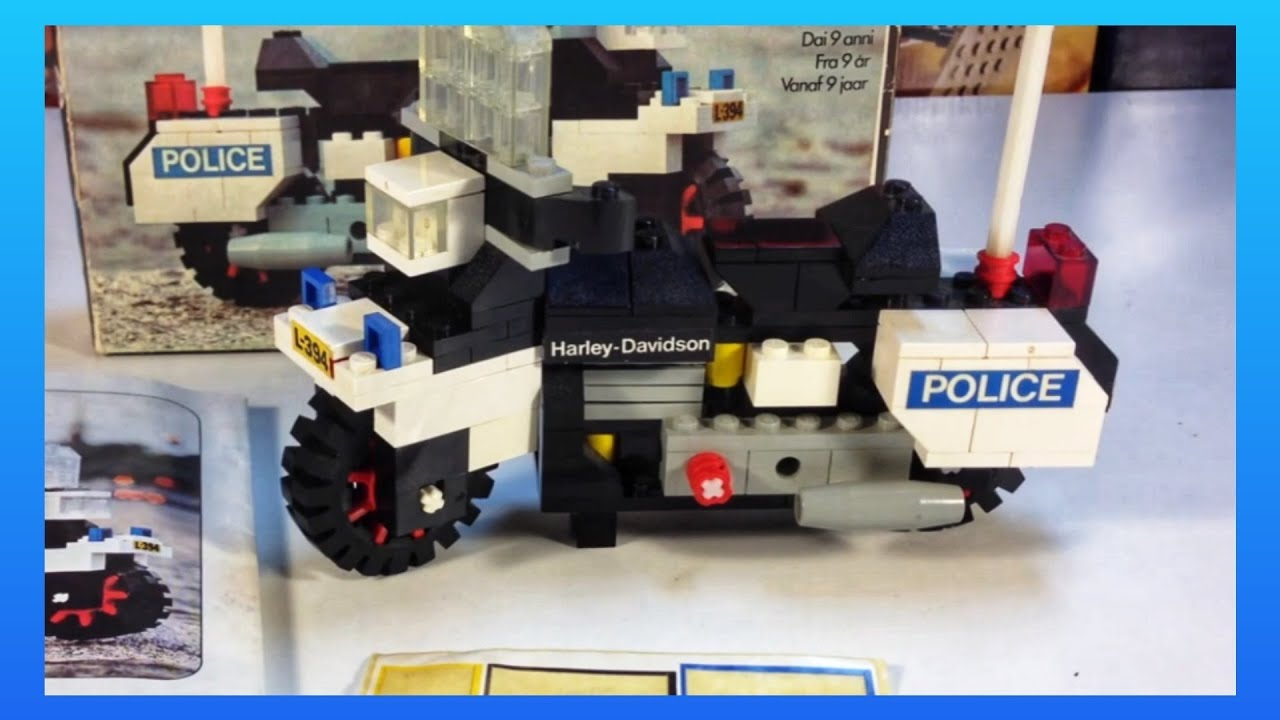 lego harley davidson flh 1200 police motorcycle set 394. Black Bedroom Furniture Sets. Home Design Ideas