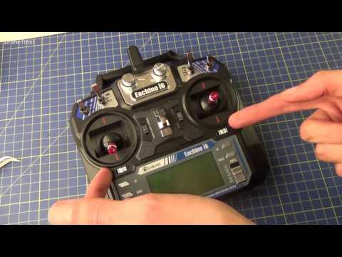 Binding and Setting Up the FlySky i6 Transmitter for a quadcopter/drone