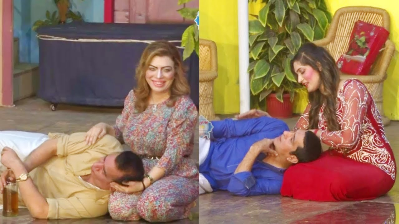 Nasir Chinyoti and Zafri Khan Stage Drama Guddi Udaie Jaa Comedy Clip 2019