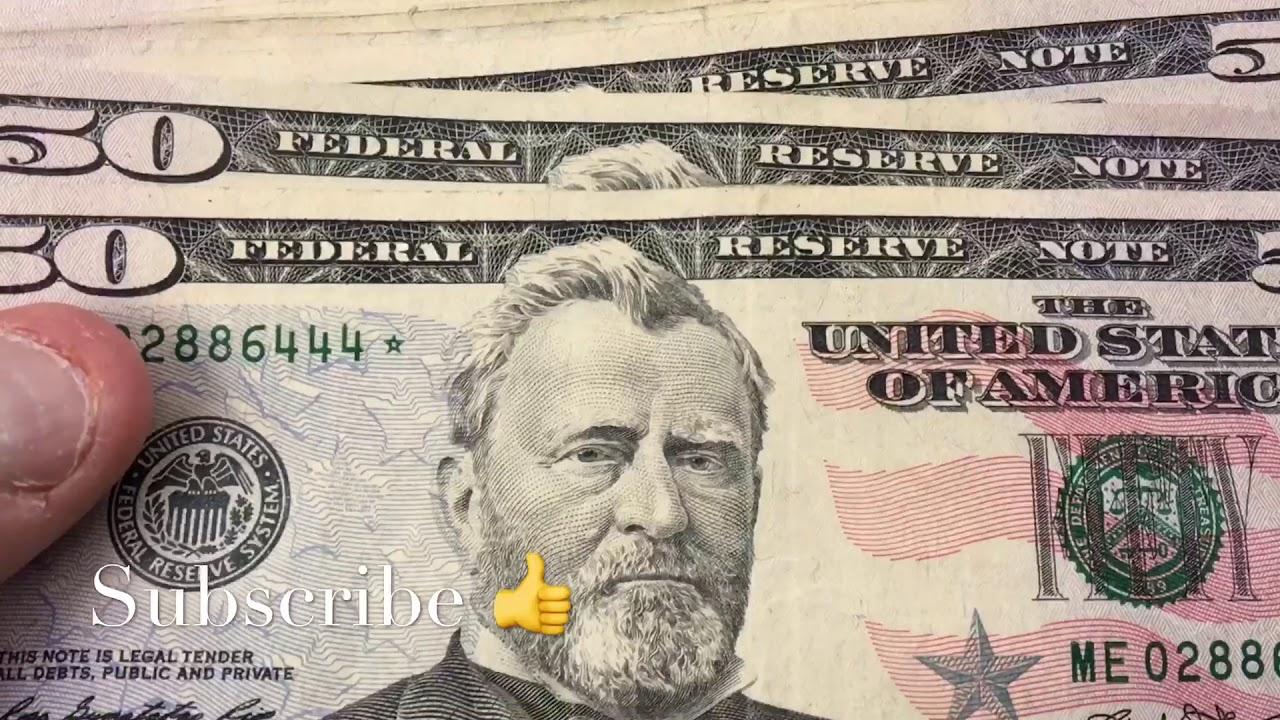 New 50 Dollar Star Note Bill Money Cash Currency