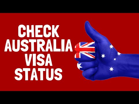 Check Australia Visa Status In English | Australia Visa Online