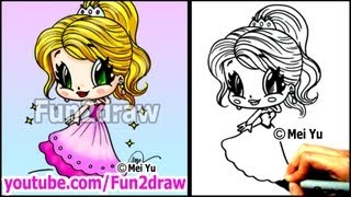 Prom Girl in Beautiful Dress  How to Draw People - Cartoon Tutorial