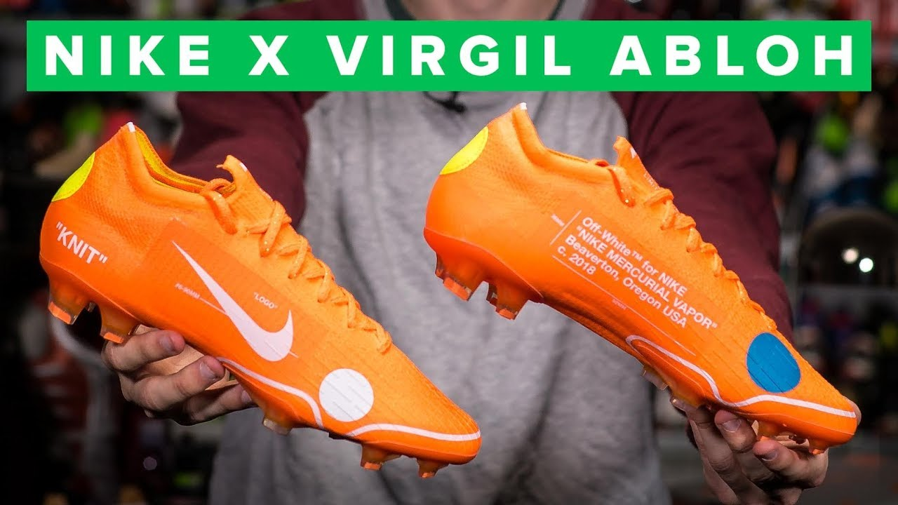 finest selection 0ad93 9e45f Virgil Abloh Nike Mercurial Vapor 12 | sick Off White football boots ...
