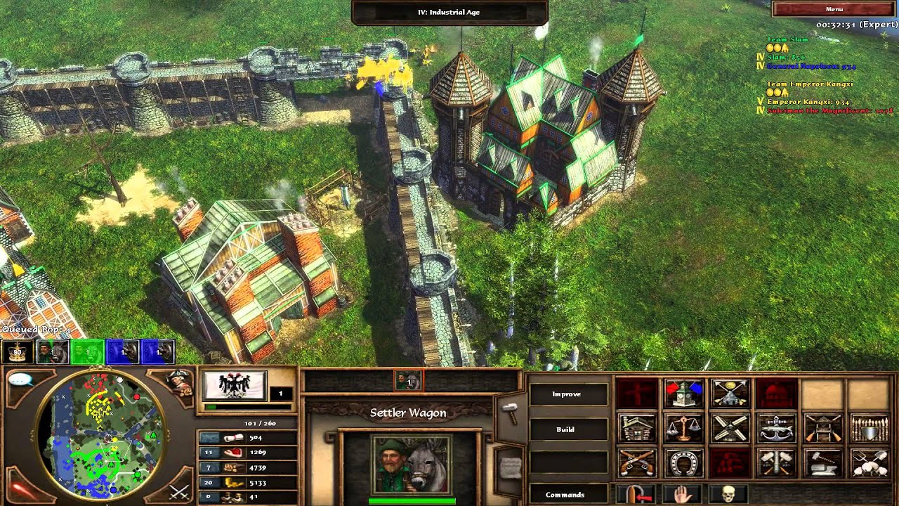 Age Of Empires Wallpaper Hd Age Of Empires Iii Improvement Mod 5 4 Gameplay Hd Youtube