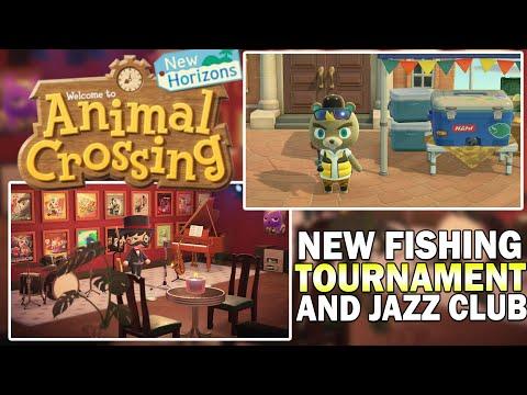 New Fishing Tournament, Exclusive Items & Underground Jazz Club In Animal Crossing New Horizons