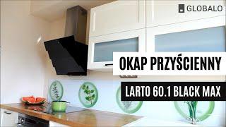 Okap przyścienny-kominowy GLOBALO LARTO 60.1 BLACK MAX