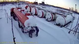 Idiots Try To Thaw Flammable Tanker Valve Using a Blow Torch thumbnail