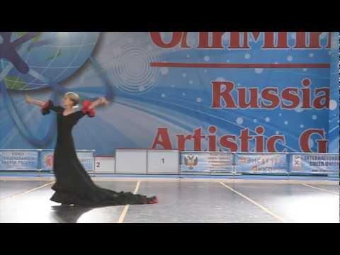 Lana Ilishkina - Flamenco Dance. The world dance olimpiad competition.