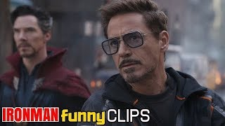 Ironman Funny Scenes From Avengers Infinity War in HINDI