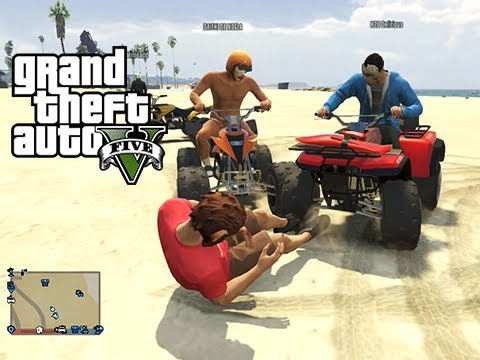 GTA 5 Online Fun at the Beach and King of the ATVs Custom Game