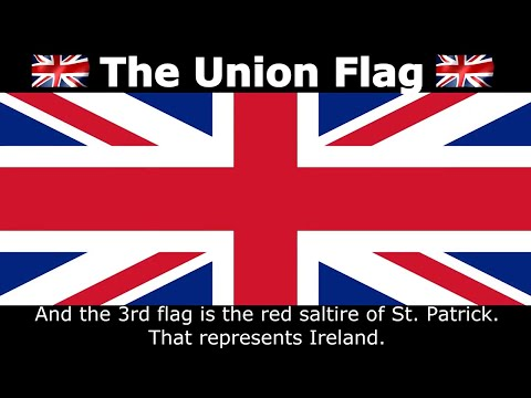 How the Union Flag is Made Up, Origin of the Union Jack (British Flag)
