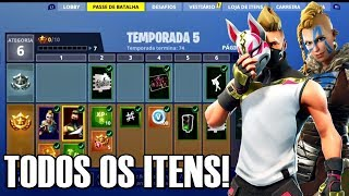 Fortnite-ALL ITEMS of the BATTLE PASS 5