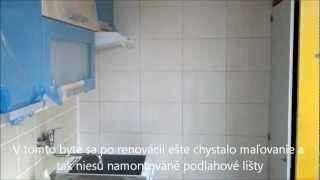 Renovacia umakartoveho bytoveho jadra kupelna wc kuchyňa 6.wmv