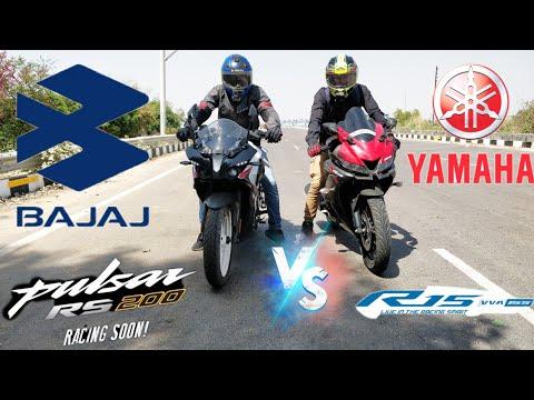 Bajaj Pulsar Rs200 Bs6 VS Yamaha R15 V3 Bs4 | Top End Race | Shocking Results | STM MOTOVLOGS