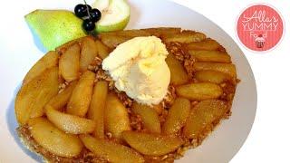 How To Make Pear Oatmeal Pie - Healthy Dessert - Диетический пирог с грушами и овсяными хлопьями