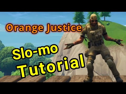 Fortnite Slo-mo Emote Tutorial - Learn to do Orange Justice!