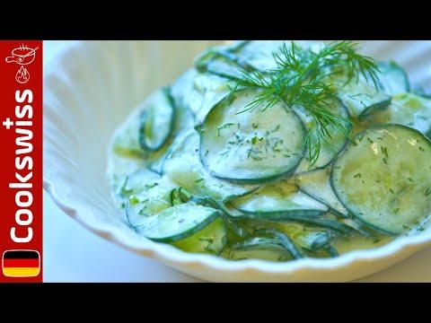 erfrischender-gurkensalat-mit-dill-und-joghurt---salat-rezepte
