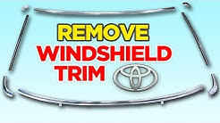 How to: Remove Chrome Windshield Trim on Toyota Pickup/Hilux