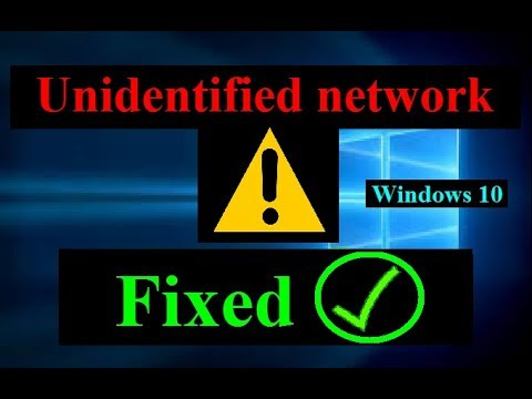 How To Fix Unidentified Network No Internet Access Windows 10