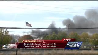 Hazmat team called to 3-alarm blaze at Leetsdale chemical company