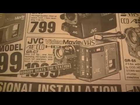 Vintage 1980's Newspaper 80s Video Camera VCR Stereo