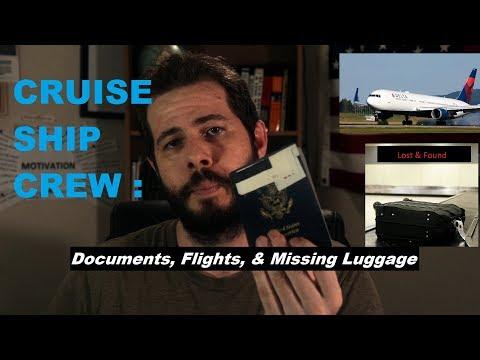 Cruise Ship Crew Travel Flights & Missing Luggage