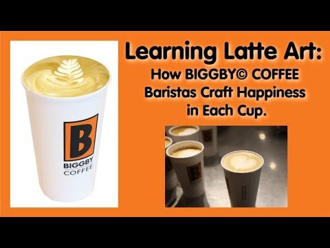 Learning Latte Art: How BIGGBY© COFFEE Baristas Craft Happiness In Each Cup