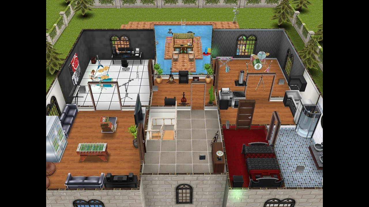 Sims freeplay mansion floor plans thefloors co for Sims mansion floor plans