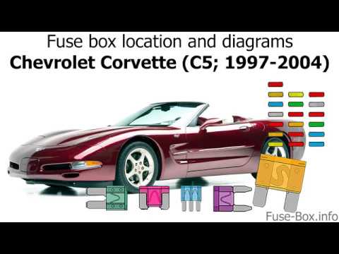 Fuse box location and diagrams: Chevrolet Corvette (C5; 1997-2004) - YouTube | C5 Fuse Box Diagram |  | YouTube