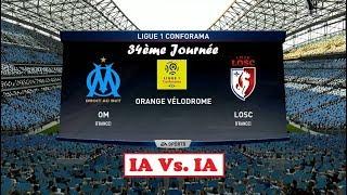 Om - losc [fifa 18] | ligue 1 conforama 2017-18 (34ème journée) | ia vs. ia